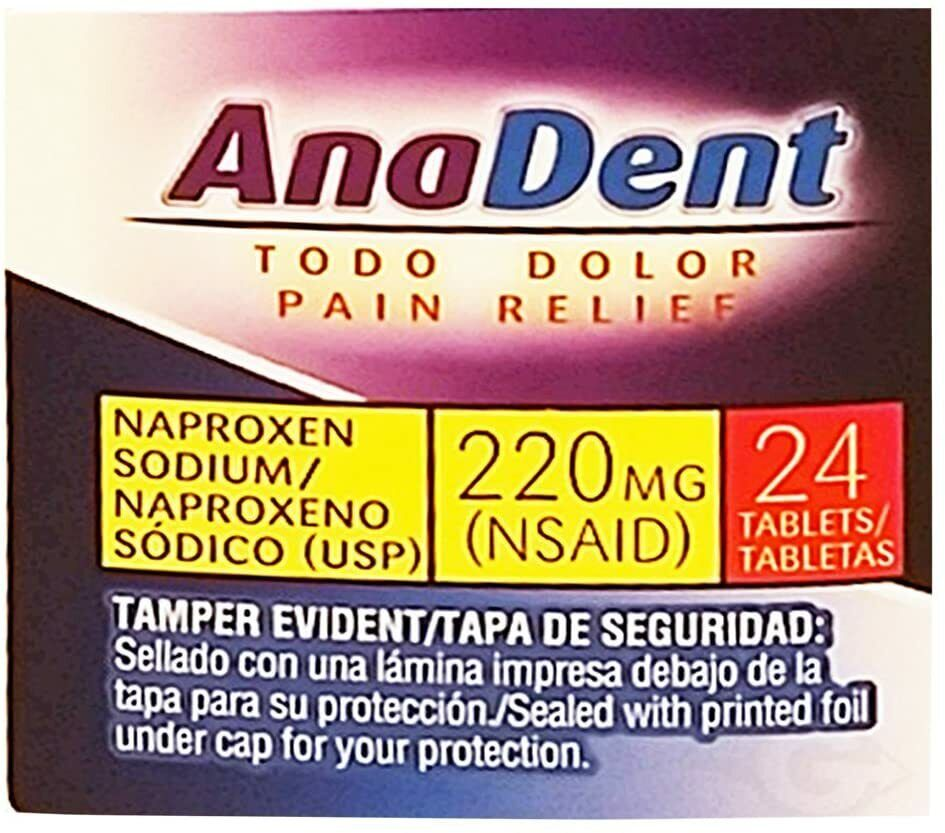 Belmora AnaDent Pain Reliever Fever Reducer 24 Tabs (Pack of 1) 1