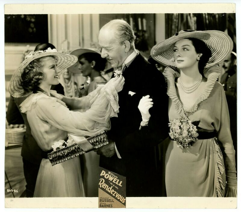 ROSALIND RUSSELL, BINNIE BARNES original movie photo 1935 RENDEZVOUS