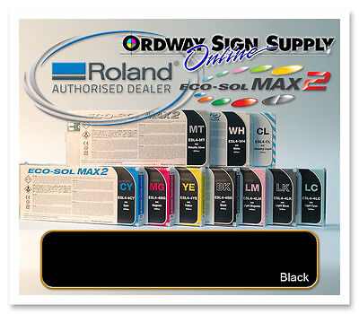 New Black Original Oem Roland Eco-sol Max2 Ink 440ml Cartridge