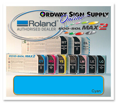 New Cyan Original Oem Roland Eco-sol Max2 Ink 440ml Cartridge