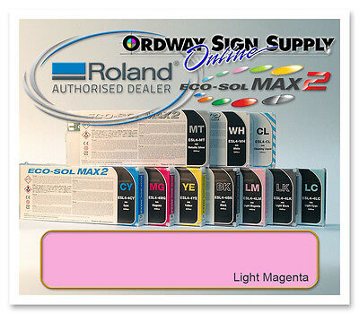 New Light Magenta Original Oem Roland Eco-sol Max2 Ink 440ml Cartridge