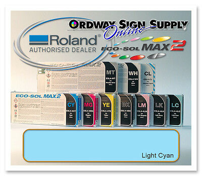 New Light Cyan Original Oem Roland Eco-sol Max2 Ink 440ml Cartridge