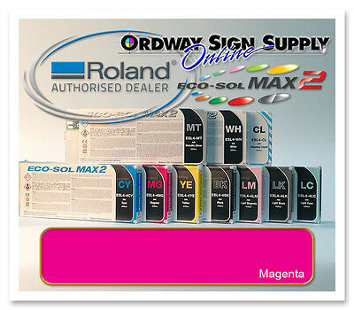 New Magenta Original Oem Roland Eco-sol Max2 Ink 440ml Cartridge