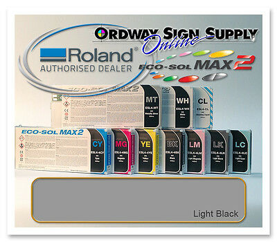New Light Black Original Oem Roland Eco-sol Max2 Ink 440ml Cartridge
