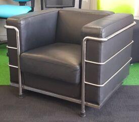 Black Le Corbusier style armchair cheap