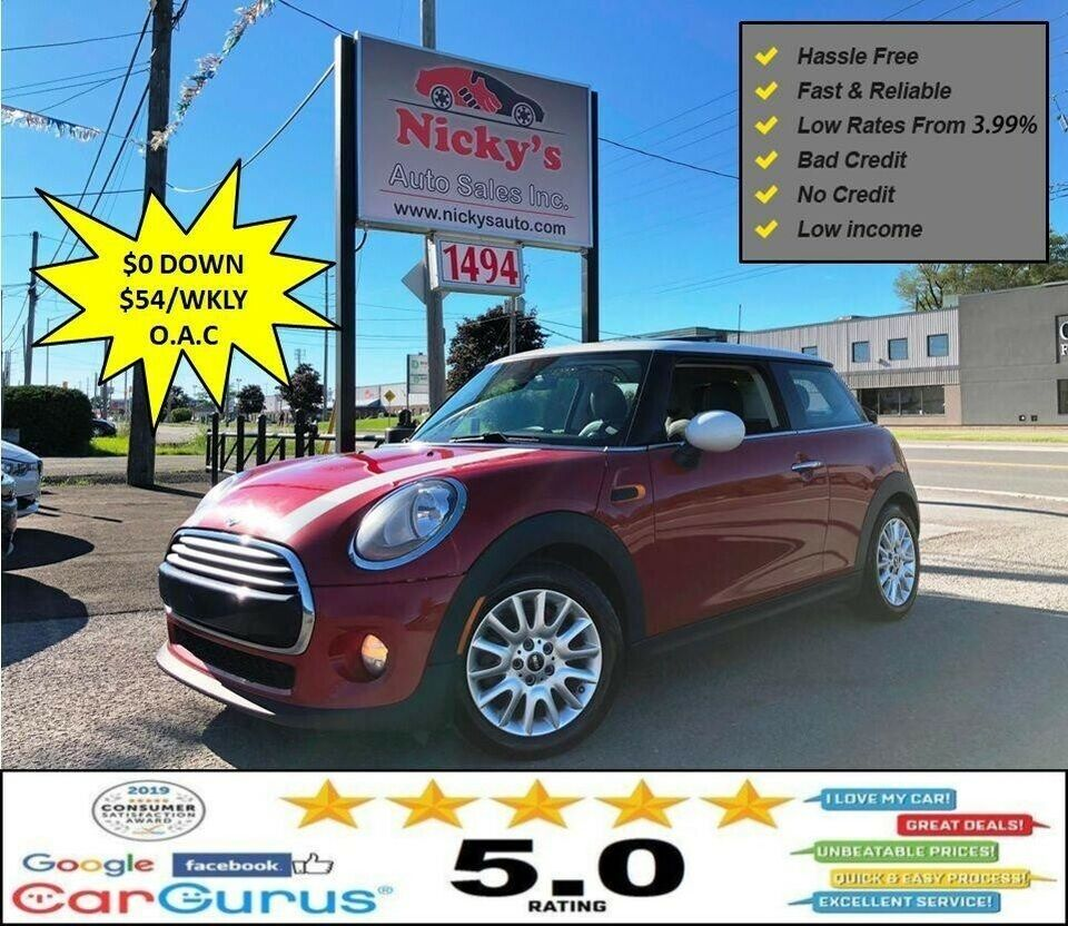2014 Mini Cooper Panoramic Roof Premium Pkg Accident Free