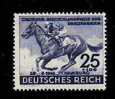 GERMANY   SCOTT# B204   MNH  HORSE RACE (FLATS)