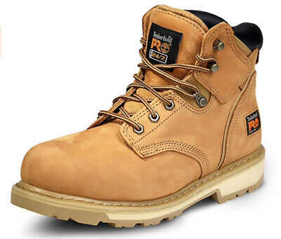 """Timberland Men's PRO Pit Boss 6"""" Steel Toe Leather Work Boots Wheat 10.5 WIDE"""