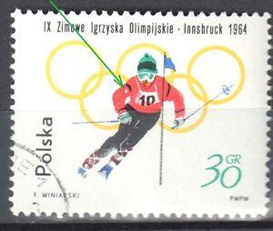 Poland 1964 - 9th Winter Olympic Games, Innsbruck - error Mi. 1458 - used - <span itemprop=availableAtOrFrom>Cieszyn, Polska</span> - Poland 1964 - 9th Winter Olympic Games, Innsbruck - error Mi. 1458 - used - Cieszyn, Polska