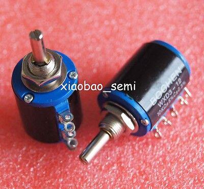 Wxd3-12 10k Ohm Multi-turn Wirewound Potentiometer