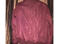 New look burgundy nearly new bomber jacket