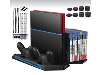 PS4 Vertical Stand with cooling fan and charging docks