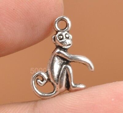 30pcs Tibetan Silver Charms Monkey Animal Pendant Beads Jewellery Making A3311](Monkey Charm)