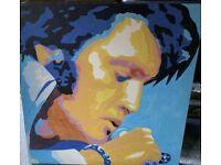 ELVIS painting on canvas