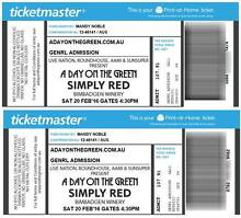 2 x Simply Red Hunter Valley Day on the Green & accommodation Richmond Hawkesbury Area Preview