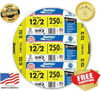 Southwire Romex Simpull 122 Electrical Wire - 250 Ft Type Nm-b