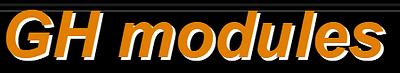 GH modules
