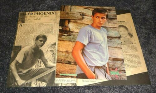 Pinup RIVER PHOENIX 1987 Mosquito Coast Tiger Beat Magazine Clipping Mag Cutting