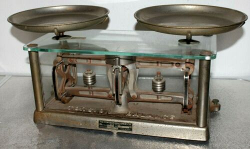 Vintage Torsion Balance Co. Glass Apothecary Pharmacy Scale Style 253 #B110008
