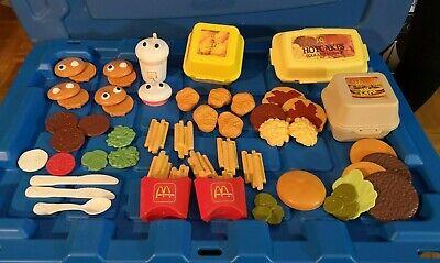 1988 FISHER PRICE Fun Play food McDonald's HOTCAKES, BIG MAC, Nuggets & Fries +