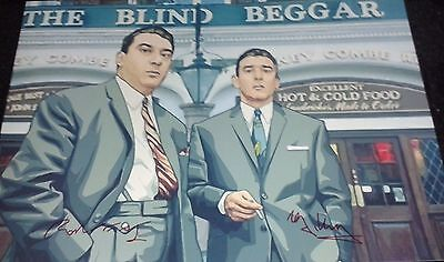 THE KRAY TWINS ART STYLE POSTER. SIGNED. THE KRAYS. GANGSTERS. LEGEND.