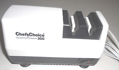 Chefs Choice Edgecraft Diamond Hone - CHEFS CHOICE 300 by* EDGECRAFT White Diamond Hone Knife Sharpener USA Made 110v