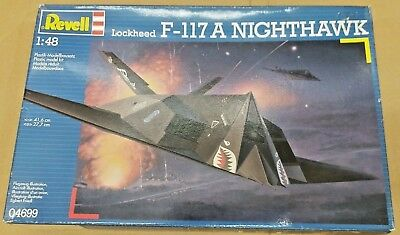 REVELL 1:48 Lockheed F-117A NIGHTHAWK Steath Bomber Model Kit 04699 SEALED BAG
