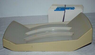Vtg Retro Desk Model Rolodex Nvip-35 Beige Patent Pending 1980s 3 X 5 Cards