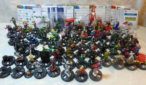 Huge Lot Heroclix Marvel Superheroes & Other Figures(80 figures) & many Cards