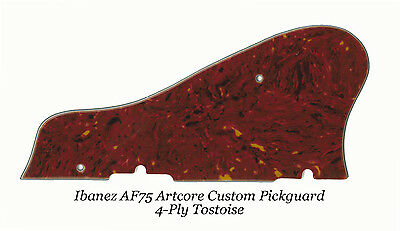 Used, AF75 Artcore Custom 4-Ply Tortoise Pickguard for Ibanez Guitar Project W/Bracket for sale  Shipping to Canada
