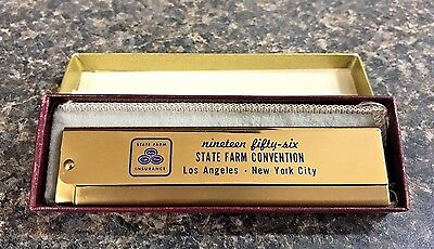 1956 State Farm Insurance Convention La   Ny Souvenir Comb W Box Rare