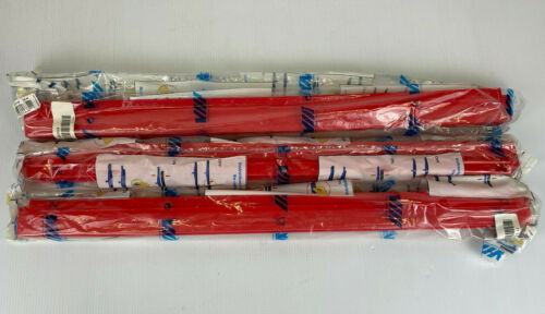 """NEW LOT OF 3 VIKAN 77344 24"""" RED RUBBER REPLACEMENT SQUEEGEE BLADE!"""