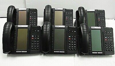 Mitel 5320e 50006474 Black Ip Business Phone Backlit Lot Of 6
