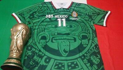 c53ab7697c2 ABA Sport Mexico 1998 Blanco #11 Green Retro Jersey Size M