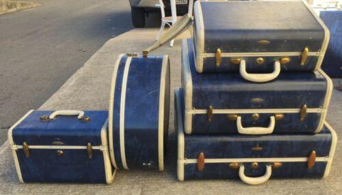 Vintage Samsonite Suitcases Blue
