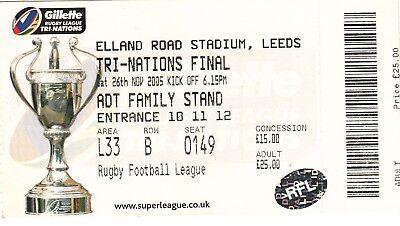 Ticket - Australia v New Zealand 26.11.2005 Tri-Nations Final @ Elland Rd Leeds