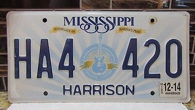 Happy 420 High Times Music Mississippi License Plate Tag Marijuana Weed Ha4 420