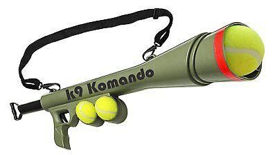 Dog Komando K-9 Tennis Ball Launcher Gun includes 2 Squeaky Balls Best Pet...