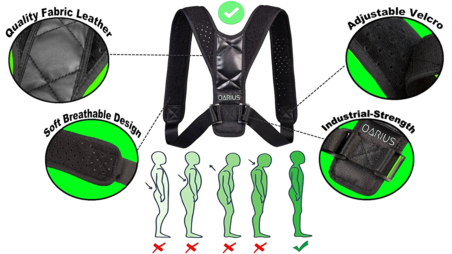 Posture Corrector Back Support  Adjustable Clavicle Pain Sho