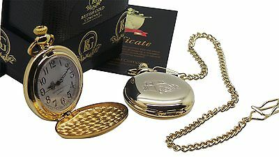 VW BEETLE GOLD POCKET WATCH CHAIN VOLKSWAGEN Classic Motor Car Luxury Gifts