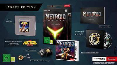 Metroid  Samus Returns   Legacy Edition  Nintendo 3Ds  Pal  Steelbook  Pin  New