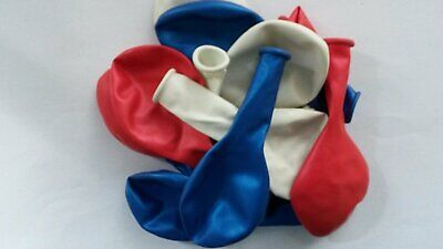 uftballon Ballon Dekoration Geburtstag Idee Helium geeignet (Rot, Weiß, Blau, Dekoration)