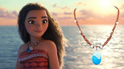 Polynesian Princess Moana Seashell Necklace Pendant Heart of Te Fiti Cosplay