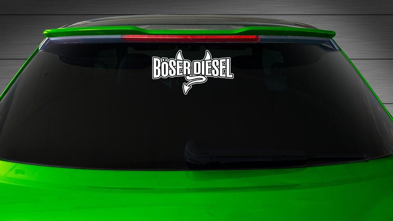 1x Boser Diesel Heckscheiben Aufkleber Auto Sticker