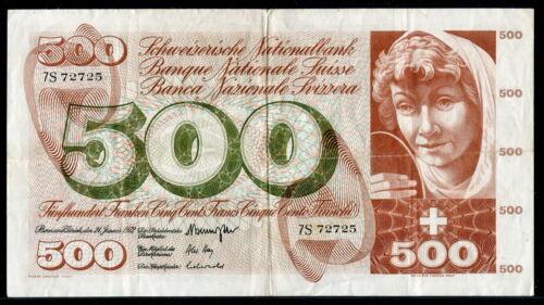 Switzerland 1972, 500 Franken, P51j, VF