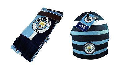dd613965ee863 Manchester City Scarf + Beanie Winter Soccer Official Merchandise New Season
