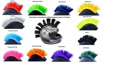 Helmet Hawks Motorcycle Adhesive Mohawk Or Hair Patches Customize Colors