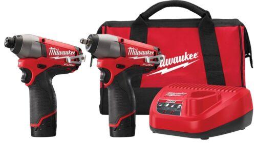 "Milwaukee 2595-22 M12 FUEL 2-Tool Combo Kit 3/8"" Impact Wren"