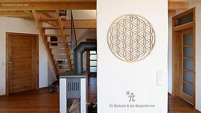 """Blume des Lebens aus Holz - Ø 77cm Birke - """"3D Wandtattoo"""" - Wandschmuck"""