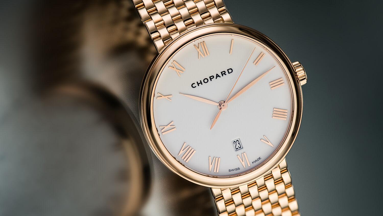 Chopard 18K RG Classique XL Gent's Ultra-Thin Automatic. Full Bracelet. Rare - watch picture 1